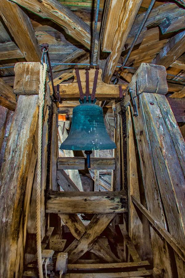 Der alte Glockenstuhl aus dem Jahr ????